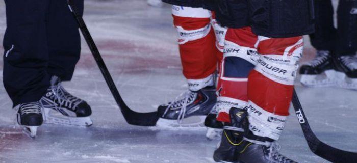 Spieler auf dem Eis