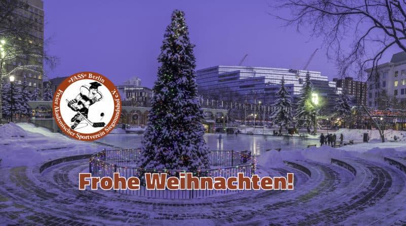 Frohe Weihnachten Berlin.Frohe Weihnachten Fass Berlin Eishockey